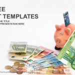 Piggy Bank with money-Finance PowerPoint Templates  (1)