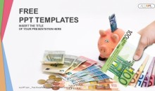 Piggy Bank with money-Finance PowerPoint Templates