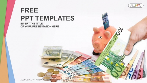 Piggy Bank With Money Finance PowerPoint Templates Awesome Ideas
