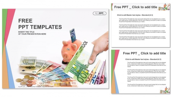 Piggy Bank with money-Finance PowerPoint Templates (4)