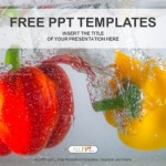 Red and yellow paprika peppers in water PowerPoint Templates  (1)