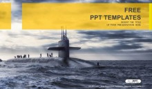 Submarine sailing-Military PowerPoint Templates