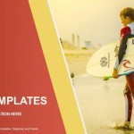 Surfer holding a Surf Board-Sports PowerPoint Templates  (1)