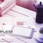 cup of coffee and smartphone-Computer PowerPoint Templates  (1)