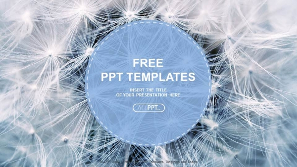 Free nature powerpoint templates design black and white dandelion seeds with natural background powerpoint templates toneelgroepblik Image collections