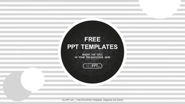 black circles on a background with stripes powerpoint templates