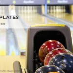 Close up of bowling balls PowerPoint Templates (1)