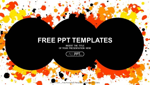 Free professional powerpoint templates design grunge circle with cmyk ink splashes powerpoint templates toneelgroepblik Gallery