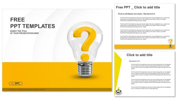 Light bulb with question mark as idea and solution symbol powerpoint light bulb with question mark as idea and solution symbol powerpoint templates 4 toneelgroepblik Images