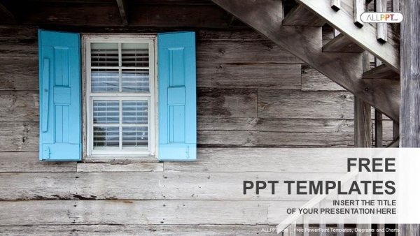 Free cool powerpoint templates design wooden window shutters powerpoint templates toneelgroepblik Images