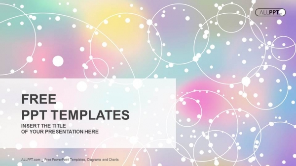 Abstract Light Background With Colorfull Powerpoint Templates