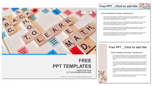 Alphabet letters on wooden scrabble pieces PowerPoint Templates (4)