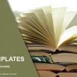 Composition with vintage old hardback books PowerPoint Templates (1)