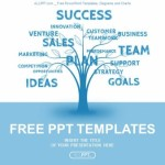 Concept blue word tree leadership marketing or business  PowerPoint Templates  (1)