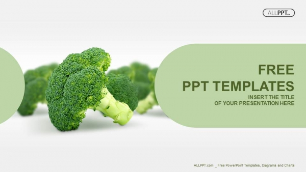 Fresh broccoli isolated on white PowerPoint Templates (1)