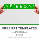 Hand and word Success isolated PowerPoint Templates  (1)