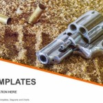 Handgun and bullets isolated on sand background PowerPoint Templates (1)