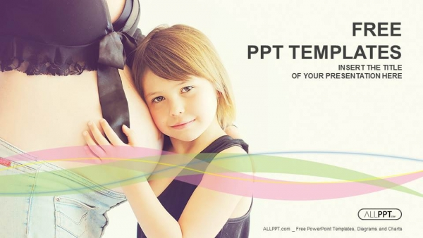 Free medical powerpoint templates design happy child holding belly of pregnant woman powerpoint templates toneelgroepblik Image collections
