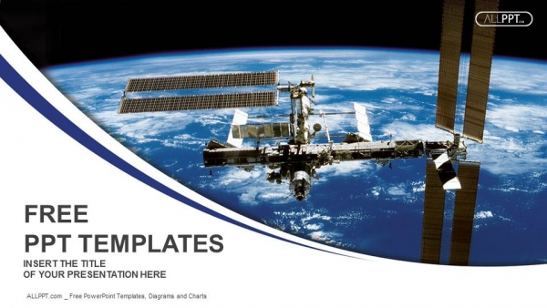 International Space Station in orbit around the earth PowerPoint Templates (1)