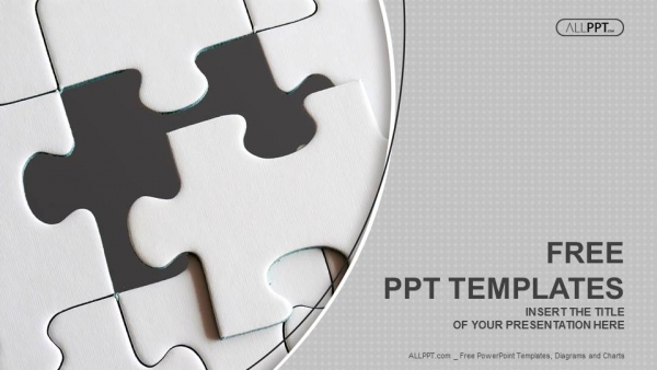 Free abstract powerpoint templates design last piece of jigsaw puzzle powerpoint templates toneelgroepblik