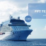Luxury cruise ship sailing  PowerPoint Templates  (1)