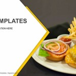 Mini burgers with french fries and ketchup on a white plate PowerPoint Templates (1)