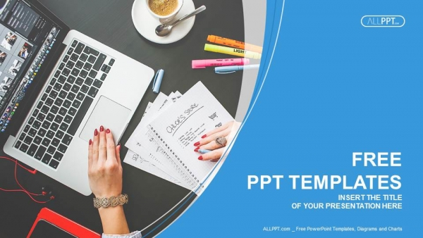 free computers powerpoint template design, Modern powerpoint