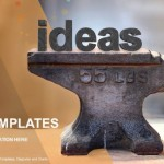 Old heavy steel anvil and ideas type PowerPoint Templates (1)