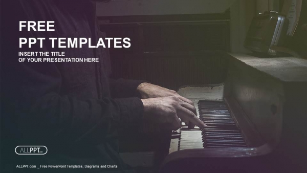 Pianist musician piano music playing PowerPoint Templates (1)