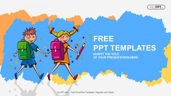 Free education powerpoint templates design school children students little boy and girl kids powerpoint templates toneelgroepblik Images