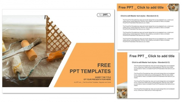 Tools and accessories for home renovation PowerPoint Templates (4)