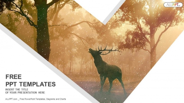 Free cool powerpoint templates design wild forest landscape of a red deer in the mist powerpoint templates toneelgroepblik Choice Image