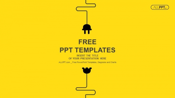 Free powerpoint templates abstract background with wire plug and socket powerpoint templates toneelgroepblik