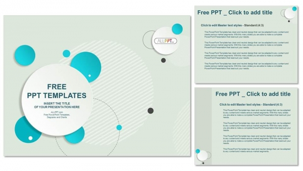 Abstract design circle bubble PowerPoint Templates (4)