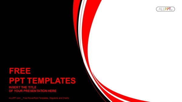 Abstract red and black wavy background powerpoint template toneelgroepblik Choice Image