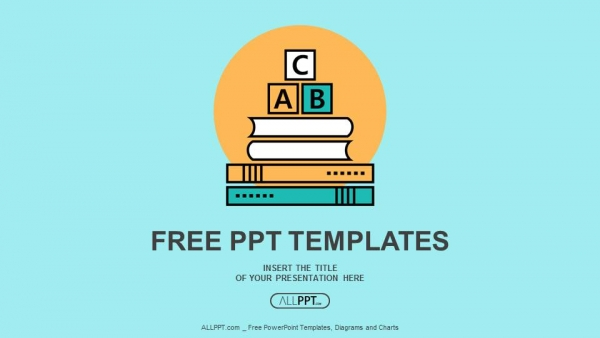 Free education powerpoint templates design alphabet letter abc blocks on books powerpoint templates toneelgroepblik Image collections