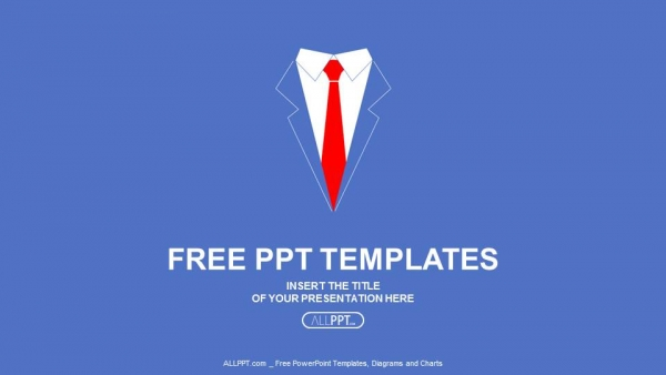 Business man shirt with red tie PowerPoint Templates (1)
