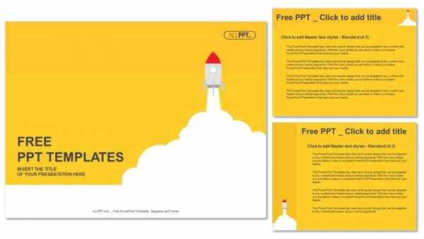 Launch of space rocket PowerPoint Templates (4)