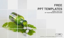 Medicine herb and Herbal pills PowerPoint Templates