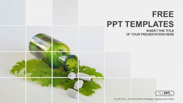 Medicine herb and herbal pills powerpoint templates toneelgroepblik Choice Image