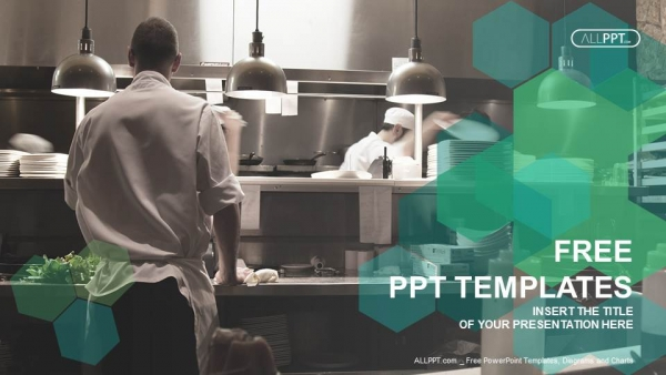 Motion chefs of a restaurant kitchen PowerPoint Templates (1)