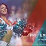 Portrait of cheerleaders with pompoms PowerPoint Templates (1)