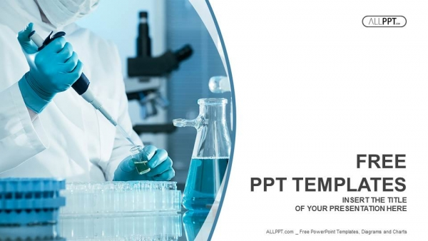 Scientific researcher in medical powerpoint templates toneelgroepblik