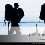 Silhouette of military soldier with weapons PowerPoint Templates (1)