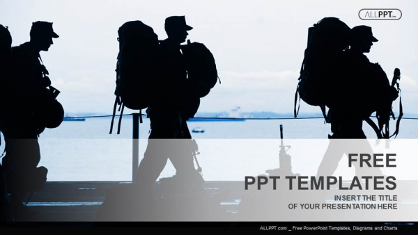 Silhouette of military soldier with weapons powerpoint templates toneelgroepblik Gallery