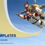 Skydiving tandem exhilaration PowerPoint Templates (1)