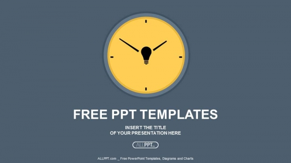 Free powerpoint templates yellow round clock on gray background powerpoint templates toneelgroepblik Images