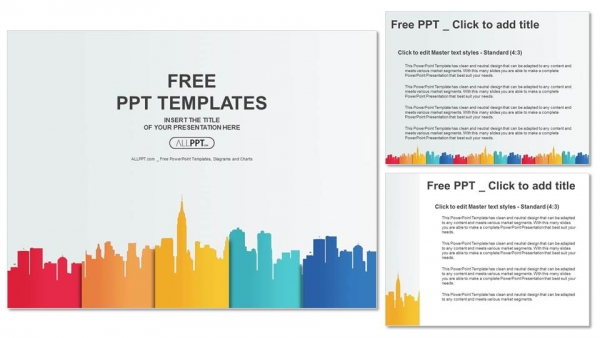 City buildings silhouettes and colors powerpoint templates city buildings silhouettes and colors powerpoint templates 4 toneelgroepblik