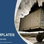 Forklift handling the container box PowerPoint Templates (1)