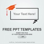 Graduation cap on Speech balloon PowerPoint Templates (1)